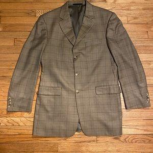 Burberry tan plaid blazer - 42L